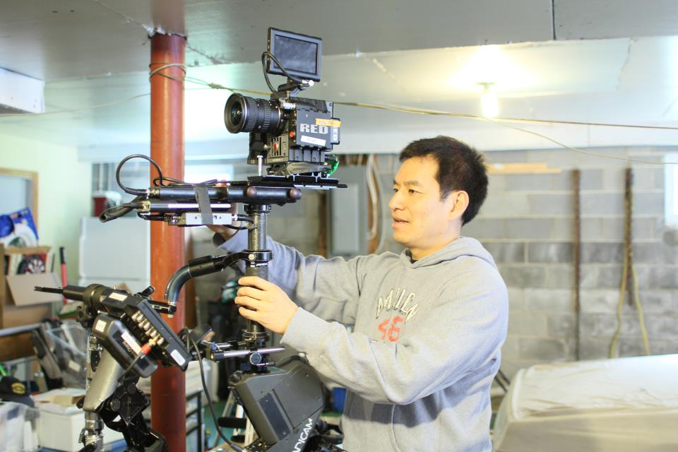 Chris preparing the RED Epic for a Steadicam shoot